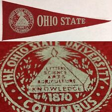 1950s Ohio State Buckeyes Columbus University Hormel Mini Pennant 3.5x9.5""