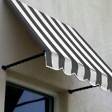 Awntech Gray White Santa Fe Window Entry Awning 21 X 24 Sant22-4gw