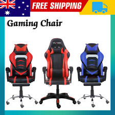 Gaming Chair Office Computer Leather Chairs Racer Executive Racing Seat Footrest