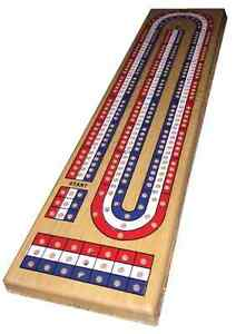 WOODEN 3-TRACK CRIBBAGE SET - 9 PEGS NEW AND SEALED