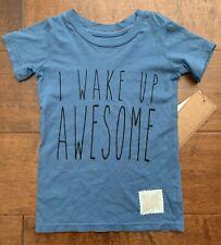 The Original Retro Brand Boy's Graphic T-Shirt~Blue~2T/3T/4T~Nwt