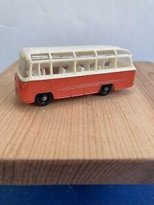 1965 Matchbox #68 Mercedes Coach, Orange w White Roof