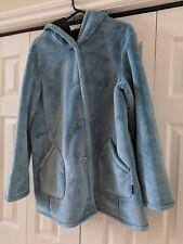 Jones New York Women's Large Comfort Plush Blue Coat Soft & Cozy