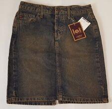 NEW L.E.I. Lowboy Size 0 SB Antique Women's Jean Blue Mini Skirt