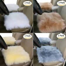 Luxury Faux Breathable Pelt Sheepskin Wool Car Seat Covers Chair Cushion Mat Pad
