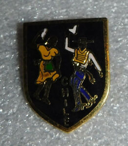 Chile Pin South American Dancers Couple Fashion Brooch 1 Inch Souvenir Jewelry