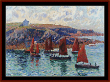 Sale 40% Off XS-Collectibles - Counted X-stitch Chart - Fishing Boats, Finistere
