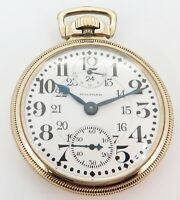 .1913 Waltham Vanguard Up Down 23 Jewel Gold Filled OF 16s Railroad Pocket Watch