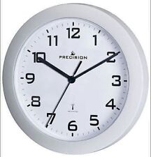 Precision Prec0062 White case Radio Controlled wall clock 23cm Diameter