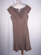 J.CREW MIRABELLE DRESS 100% Silk Women's SIZE 8 P Brown