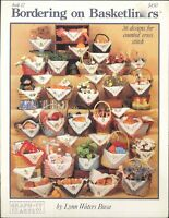Bordering On Basketliners 12 Cross Stitch Booklet 1988 Busa Welcome Christmas