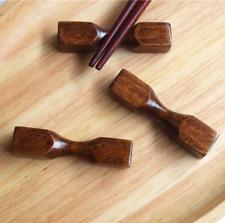 2× Japan Wooden Chopsticks Holder Stand Chopstick Rack Pillow Care Rest Kitchen
