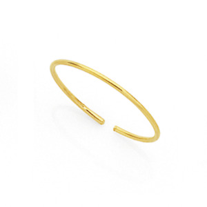 Extra Thin 9ct Gold Nose Ring Hoop 0.5 mm Thick Piercing