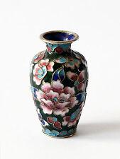 Vaso Cloisonnè Filo Rame Cinese Oriental Ancient Vintage Antique Vase Cina H.8cm