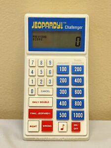 Vintage JEOPARDY CHALLENGER Official Scorekeeper Electronic Handheld Game 1987