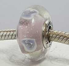 Pandora Cristal de Murano Multi Color con Corazon Abalorio Plata S-925 Con bolso