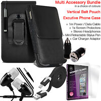 Quality Vertical Belt Clip Pouch Holster Flip Case Holder✔Accessory Pack✔Black