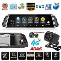 Touch Screen Dual Lens 4G Android Car Rearview Mirror DVR Camera Dash Cam GPS