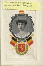 More details for ww1 embroidered silk: elisabeth of bavaria, queen of belgium from 1909-34.