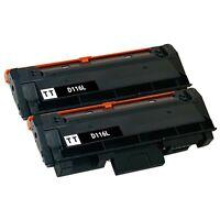 2 x Toner Cartridge for Samsung MLT-D116L SU832A M2835DW M2885FW M2625D M2875FD