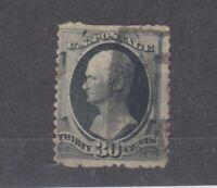 USA 1870 30c Hamilton Sc#154/SG167 Fine Used JK1011