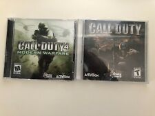 Lot of 2 Call Of Duty Modern PC CD-ROM Game Original Shooter 2003 Activision