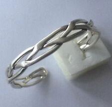 Sterling Silver Cuff Bangle - 10mm Wide - Wear Not Scrap