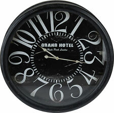 Extra Large 61cm Wooden Wall Clock Distressed Shabby Chic Grand Hotel Wall Clock