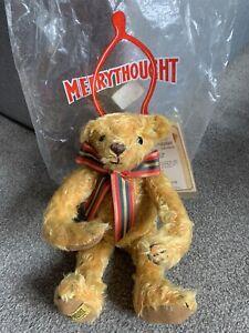 "Vintage Merrythought  Mohair Bear IronBridge Shrops England 13"" NWT & Bag Barton"