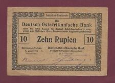 GERMAN EAST AFRICA 10 RUPIEN 1916 P-41 RARE WEST AFRICA GERMANY