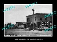 OLD LARGE HISTORIC PHOTO OF COKATO MINNESOTA THE MAIN ST & STORES c1910