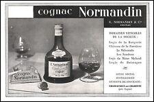 Publicité Alcool  Cognac NORMANDIN & Cie  vintage  ad   1948 -9I