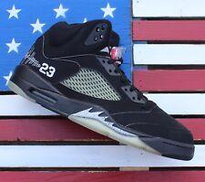 dca5ae0fbe5e Nike Jordan V 5 Tinker Hatfield Signed Black-Metallic VTG 2006  136027-004