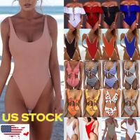 Women One-piece Sexy Swimsuit Swimwear Push-Up Bikini Set Monokini Bathing Suit