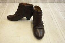 LIFESTRIDE Georgette Ankle Boots - Women's Size 8 W - Dark Chocolate NEW!