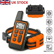 800M Remote Pet Dog Training Collar LCD Electric Shock Anti-bark Rechargeable UK