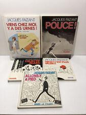 Jacques Faizant Lot de 5 Livres bd humour caricature politique ...