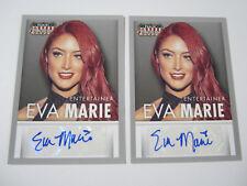 "(2) 2015 PANINI AMERICANA AUTO EVA MARIE AUTOGRAPHED WWE DIVA ""TOTAL DIVAS""NXT"