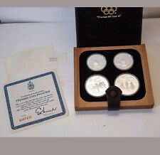 1976 Montreal Olympic Games 4 Coin Deluxe Silver proof coins Set #3 Early Sports