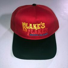 Blakes Flakes Metal Flake Trucker Hat Cap 2-tone Mesh Back red