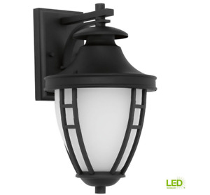 Progress Lighting Fairview Collection 1-Light LED Outdoor Black Wall Lantern