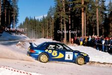 Kenneth Eriksson Subaru Impreza WRC 97 Winner Swedish Rally 1997 Photograph 1