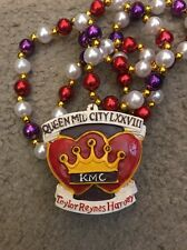 2012 Krewe Of Mid-City Queen Polystone Mardi Gras Beads