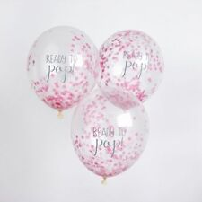 PASTEL PINK OH BABY! CONFETTI FILLED READY TO POP BALLOONS BABY SHOWER GIRL
