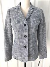 Ladies Pendelton Tweed Blazer Blue White Size 4