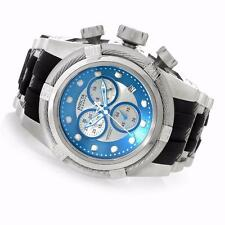 INVICTA 52MM BOLT ZEUS SWISS QUARTZ CHRONO BLUE SILVER BLACK BAND WATCH 21810