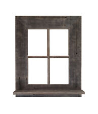 Reclaimed Rustic Barn Wood Window Frame With Shelf (Not For Pictures)