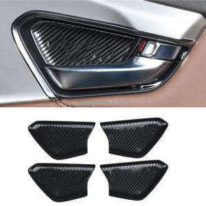 For 2019 Acura RDX Carbon Fiber stainless Side Door Inner Door Bowl Sticker trim
