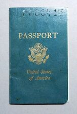 1965-1969 UNITED STATES OF AMERICA CANCELLED PASSPORT STAMPS DOCUMENT - n137!
