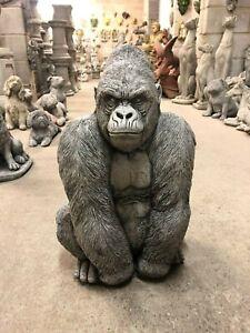 Gorilla Silver back male ape ornament Garden or home concrete stone statue sulpt